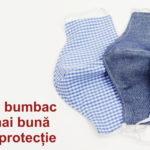 O mască din bumbac este mult mai bună decât nici o protecție